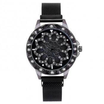 1H0003-2 Часы с вращающимся циферблатом, цвет чёрный