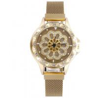 1H0003-3 Часы с вращающимся циферблатом, цвет золотой