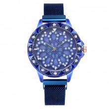 1H0003-4 Часы с вращающимся циферблатом, цвет синий