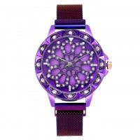 1H0003-6 Часы с вращающимся циферблатом, цвет фиолетовый