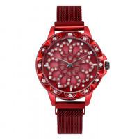 1H0003-8 Часы с вращающимся циферблатом, цвет красный