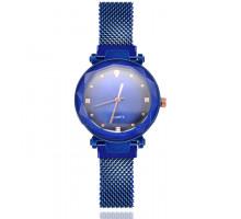 1H0008-3 Наручные часы со стразами, цвет синий