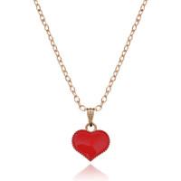 1L0002-4 Кулон Сердце, цвет красный