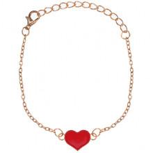 1L0003-4 Браслет Сердце, цвет красный