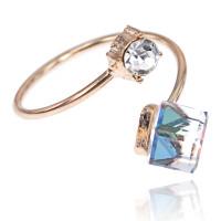 1L0011 Кольцо Два Кристалла