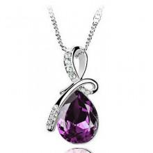1L0013-1 Кулон Капля, цвет фиолетовый