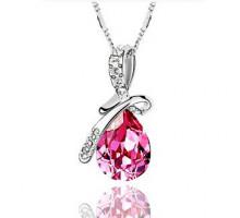 1L0013-2 Кулон Капля, цвет розовый