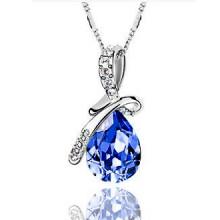 1L0013-3 Кулон Капля, цвет синий