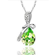 1L0013-4 Кулон Капля, цвет зелёный