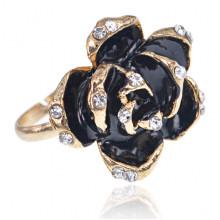 1L0018 Кольцо Роза со стразами
