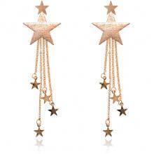 1L0024-1 Серьги-подвески Звезда, цвет золотой
