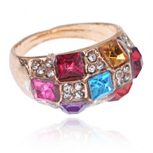 1L0037 Кольцо с кристаллами