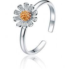 1L0060 Безразмерное кольцо Цветок, 6мм