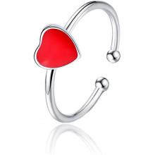 1L0061 Безразмерное кольцо Сердце, 5мм