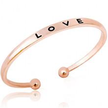 1L0063 Безразмерный браслет LOVE, 5мм