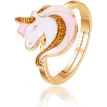 1L0067 Безразмерное кольцо Единорог, 20мм