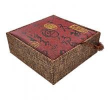 BOX011-4 Коробка для браслета 10х10см, цвет бордовый