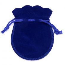 MS001BL Мешочек бархат 7,5х9см синий