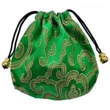 MS019-06 Мешочек из парчи 11х11см, цвет зелёный