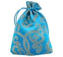 MS025-4 Мешочек из парчи 10х13см, цвет голубой