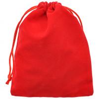 MS026-12x15 Бархатный мешочек 12х15см, цвет красный