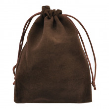 MS030-10x12 Бархатный мешочек 10х12см, цвет коричневый