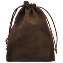 MS030-12x15 Бархатный мешочек 12х15см, цвет коричневый
