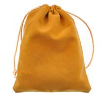 MS032-10x12 Бархатный мешочек 10х12см, цвет жёлтый