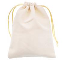 MS034-12x15 Бархатный мешочек 12х15см, цвет белый