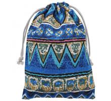 MS036-3 Бархатный мешочек 13х18см, цвет синий