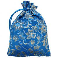MS039-08 Мешочек из парчи 10х14см, цвет голубой