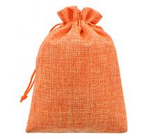 MS049-10x14 Мешочек из джута 10х14см, цвет оранжевый