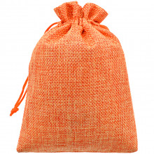 MS049-13x18 Мешочек из джута 13х18см, цвет оранжевый