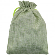 MS050-13x18 Мешочек из джута 13х18см, цвет светло-зелёный