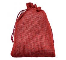 MS051-10x14 Мешочек из джута 10х14см, цвет бордовый