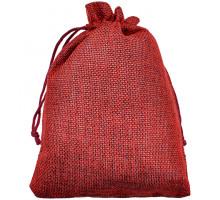MS051-13x18 Мешочек из джута 13х18см, цвет бордовый