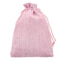 MS054-10x14 Мешочек из джута 10х14см, цвет розовый
