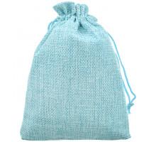 MS055-13x18 Мешочек из джута 13х18см, цвет голубой