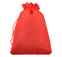 MS056-10x14 Мешочек из джута 10х14см, цвет красный