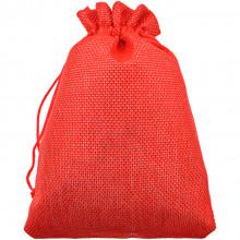 MS056-13x18 Мешочек из джута 13х18см, цвет красный