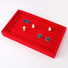 STN006-2 Дисплей для колец 23х15х3см красный бархат