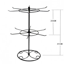 STN009-1 Двухярусная настольная стойка для бижутерии на 12 крючков 41х21см