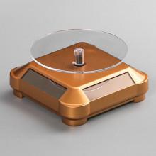 STN012-2 Вращающийся дисплей на солнечных батареях 10х10х5см золотистый