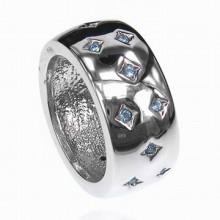UC018-17 Кольцо со стразами Сваровски, размер 17