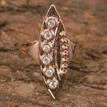 UC054-16 Кольцо со стразами Сваровски, размер 16
