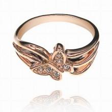 UC056-16 Кольцо Бабочка со стразами Сваровски, размер 16
