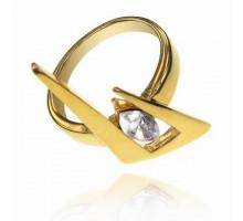 UC085-18 Кольцо Молния с кристаллом Сваровски, размер 18