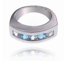 UC089-18 Кольцо со стразами, размер 18