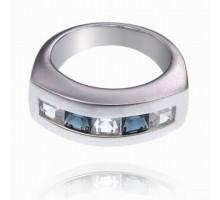 UC090-18 Кольцо со стразами, размер 18
