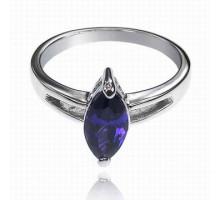 UC098-17 Кольцо с кристаллом Сваровски, размер 17